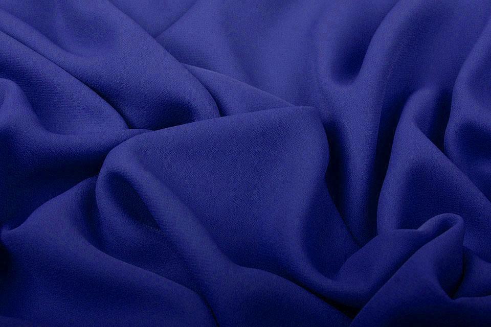 Crêpe Georgette Konings Blauw