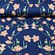 Scuba Crepe Bedrukt Tulp Blauw