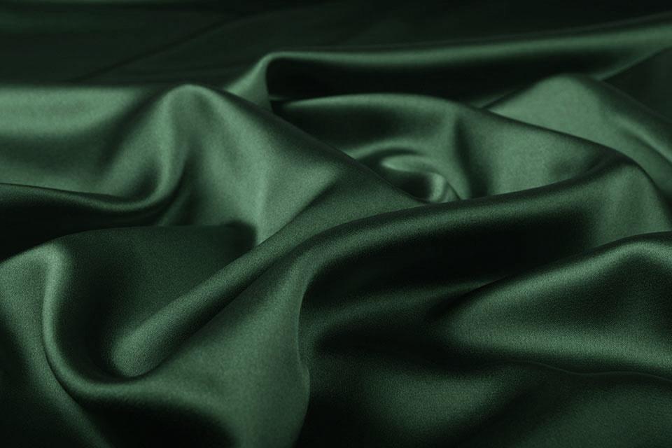 Stretch Satijn Donker Groen