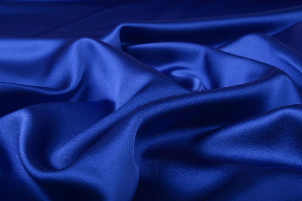 Stretch Satijn Konings Blauw