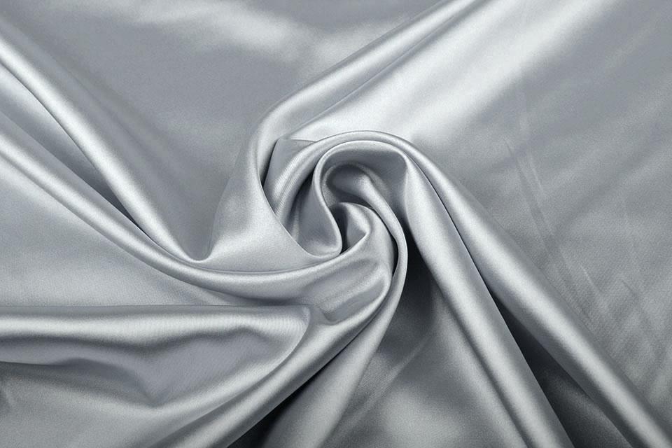 Stretch Satijn Zilver
