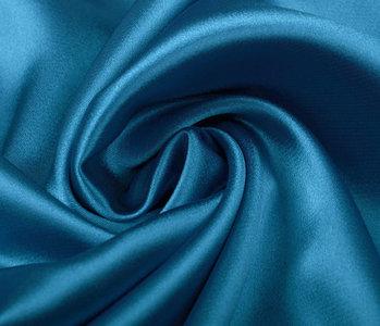 Stretch Satin Petrol Blau