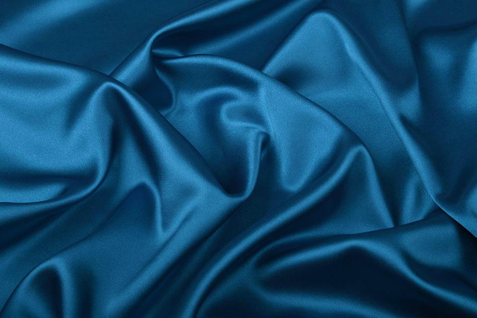 Stretch Satijn Petrol blauw