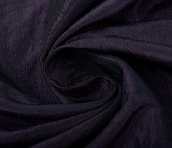 Crinkle TaftStoff Dunkel aubergine