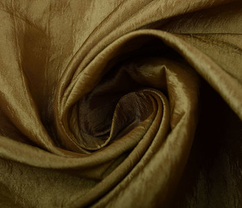 Crinkle Taft Donker goud