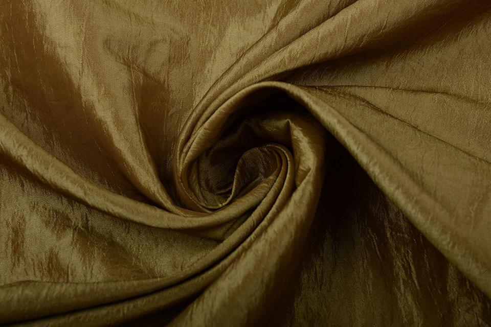 Crinkle TaftStoff Dunkel gold