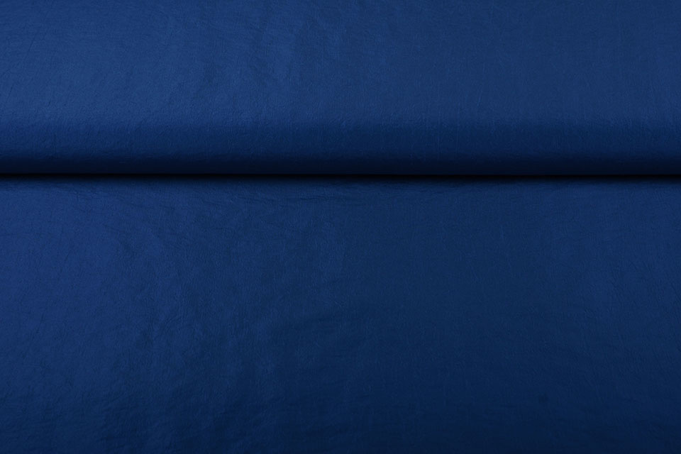 Crinkle TaftStoff Kobalt Blau