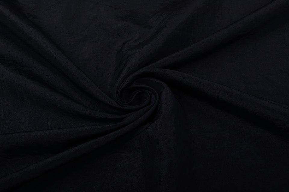 Crinkle Taft Zwart