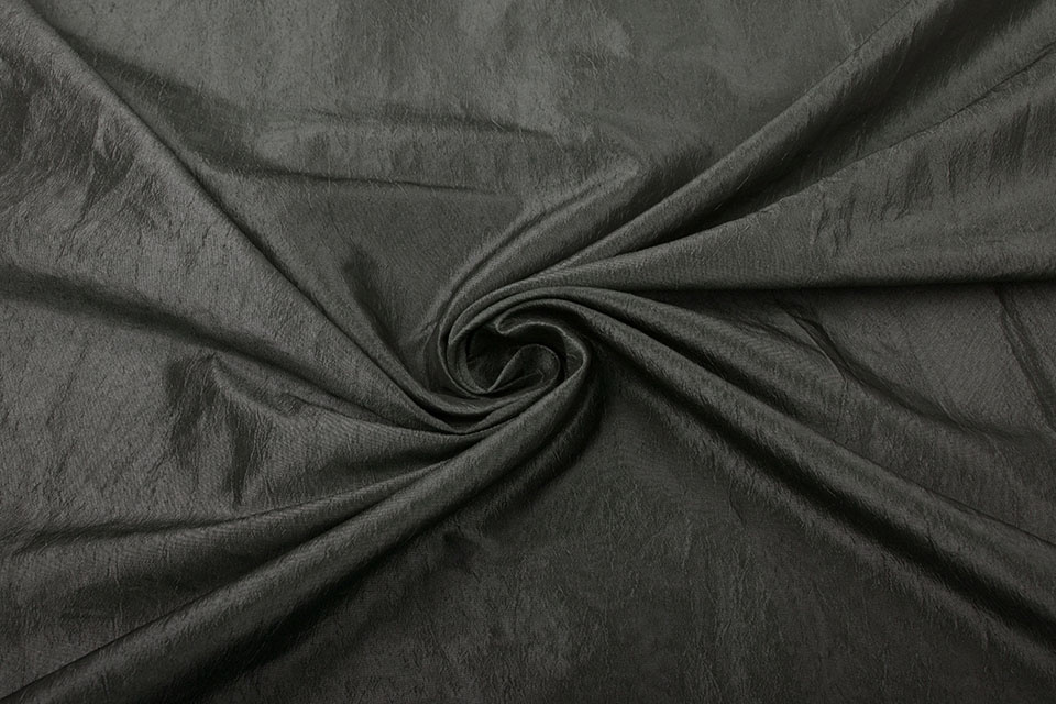 Crinkle Taft Donker Taupe