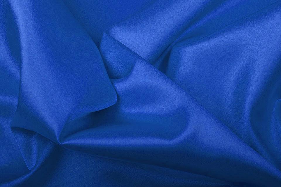 Crêpe Satijn Kobalt blauw