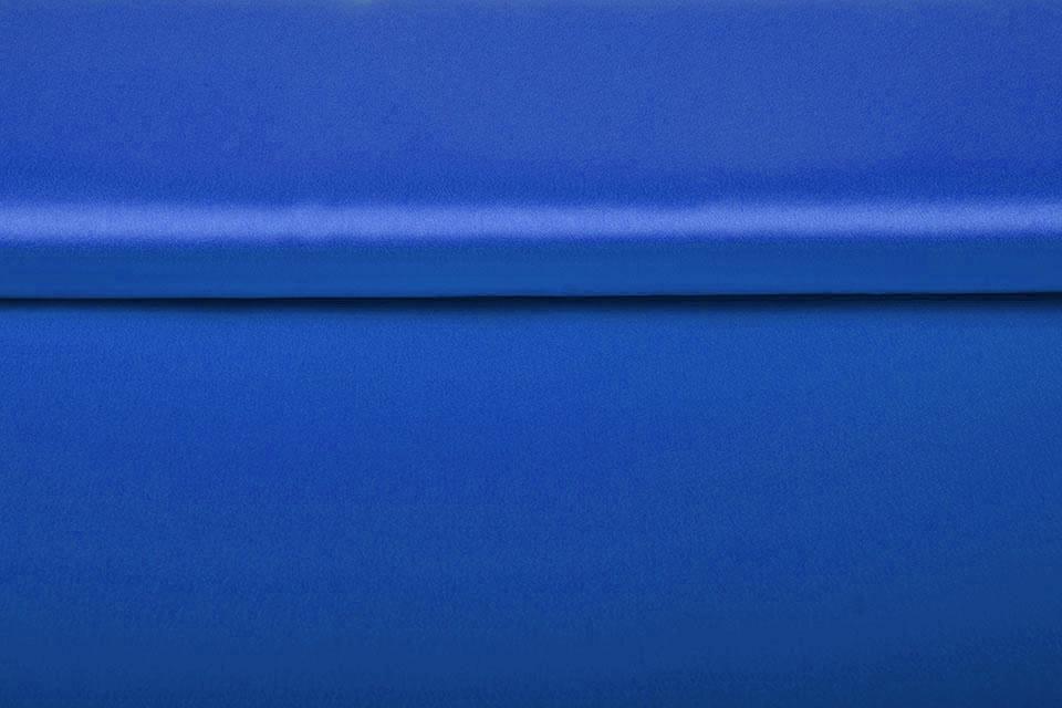 Crêpe Satin Kobalt Blau