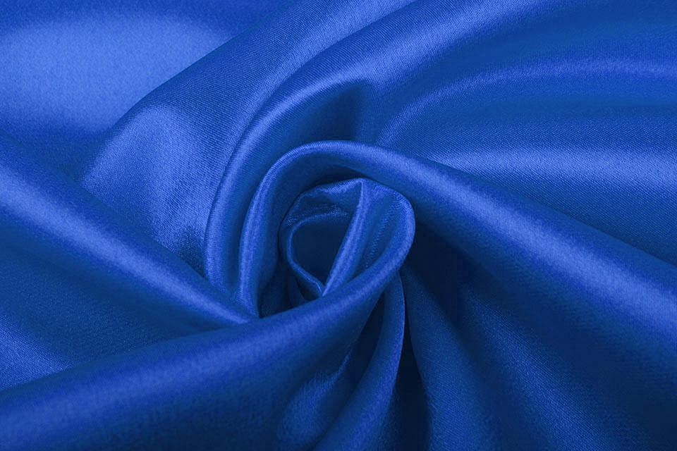 Crêpe Satijn Kobaltblauw
