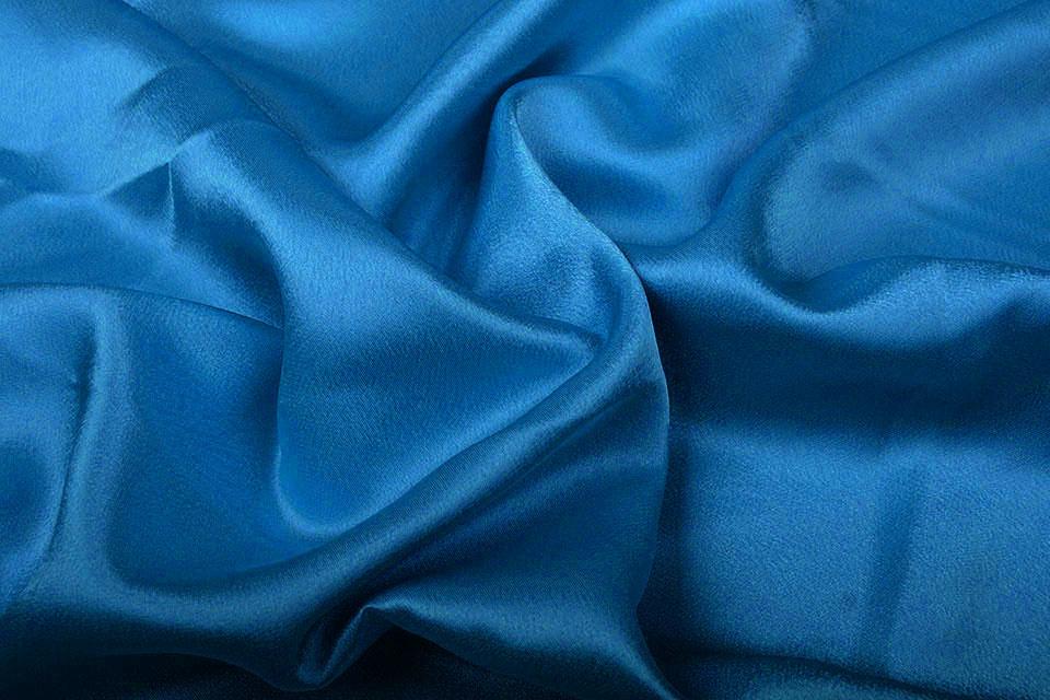 Crêpe Satin Petrol Blau