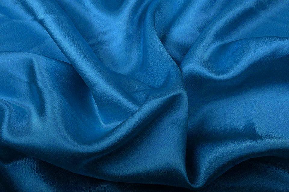 Crêpe Satijn Petrol blauw