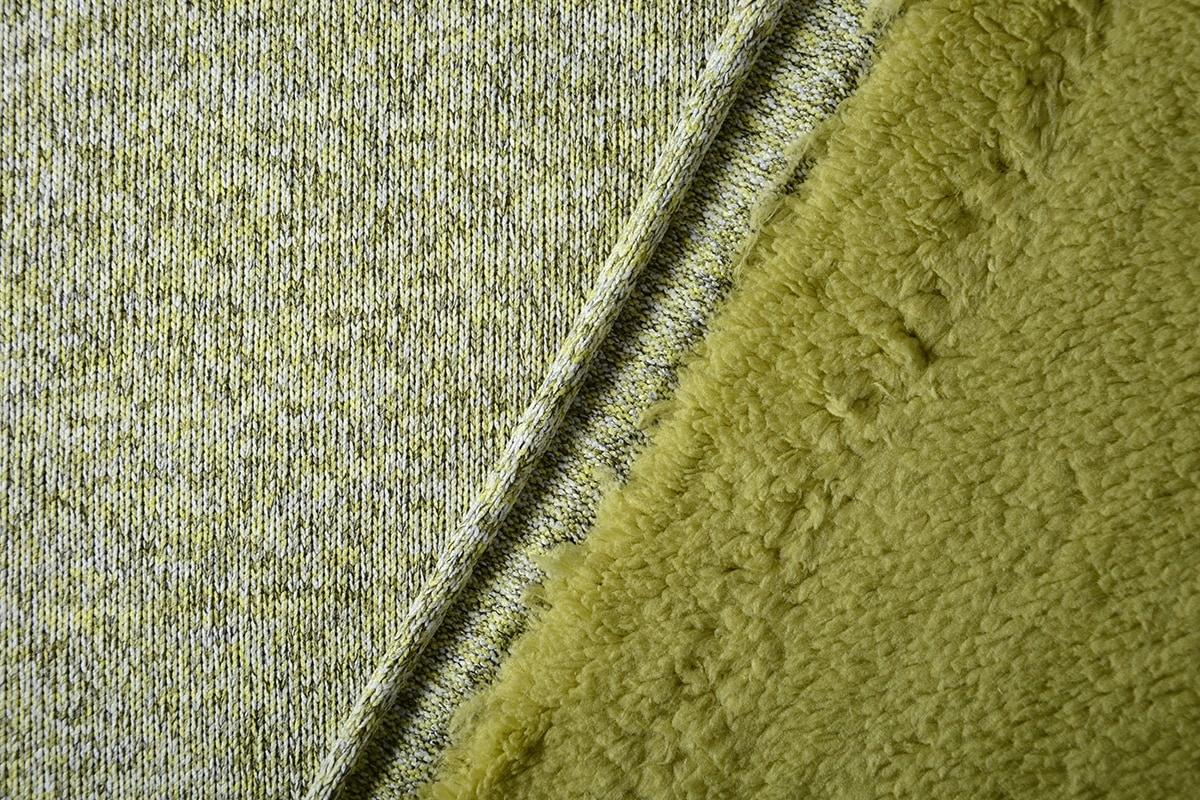 Knitted Jogging, Fur Melange Lime