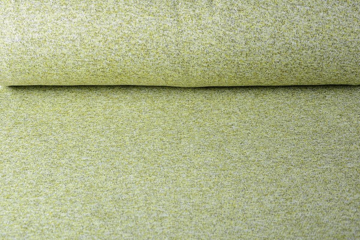 Gestrickte SweatStoff , Pelz Meliert Limettengrün