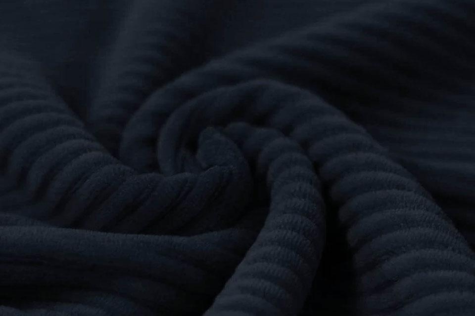 Baumwolle Cordstoff Breit Marine