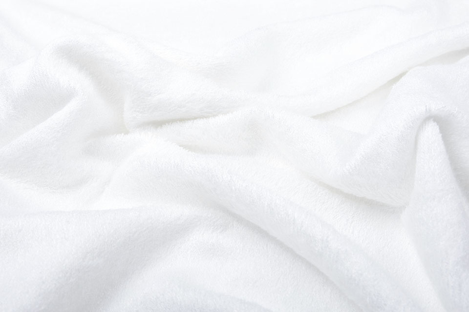 Bamboo Frottee Silk White