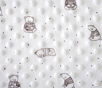 Bear Minky Fleece Creme