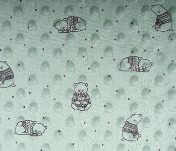 Bär Minky-Fleece Hell Alt Grün