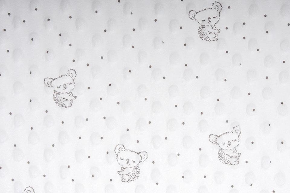 Koala Minky Fleece Creme