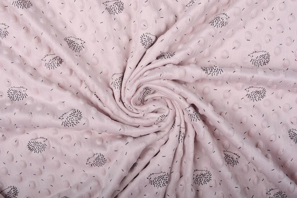 Igel Minky-Fleece Puderrosa