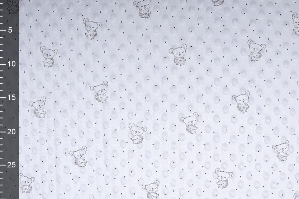 Koala Minky Fleece Zilver