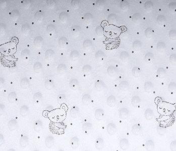 Koala Minky-Fleece Silber