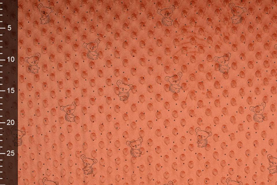 Koala Minky-Fleece Orange Brique