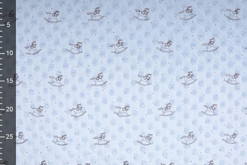 Hobbelpaard Minky Fleece Baby Blauw