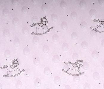 Schaukelpferd Minky-Fleece Hell Rosa
