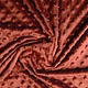 Minky Fleece Stoff Rust Brique