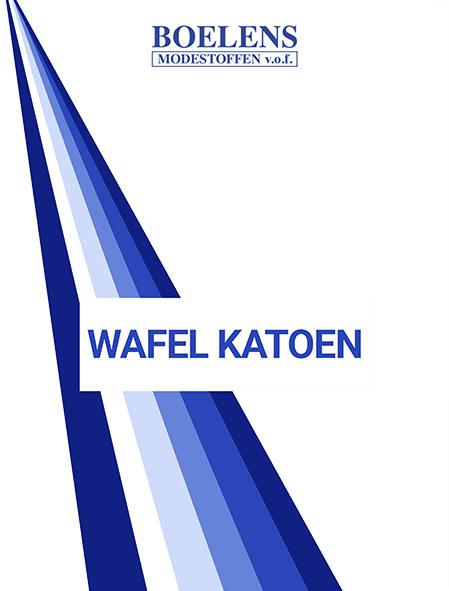 Stalenkaart Wafel Katoen