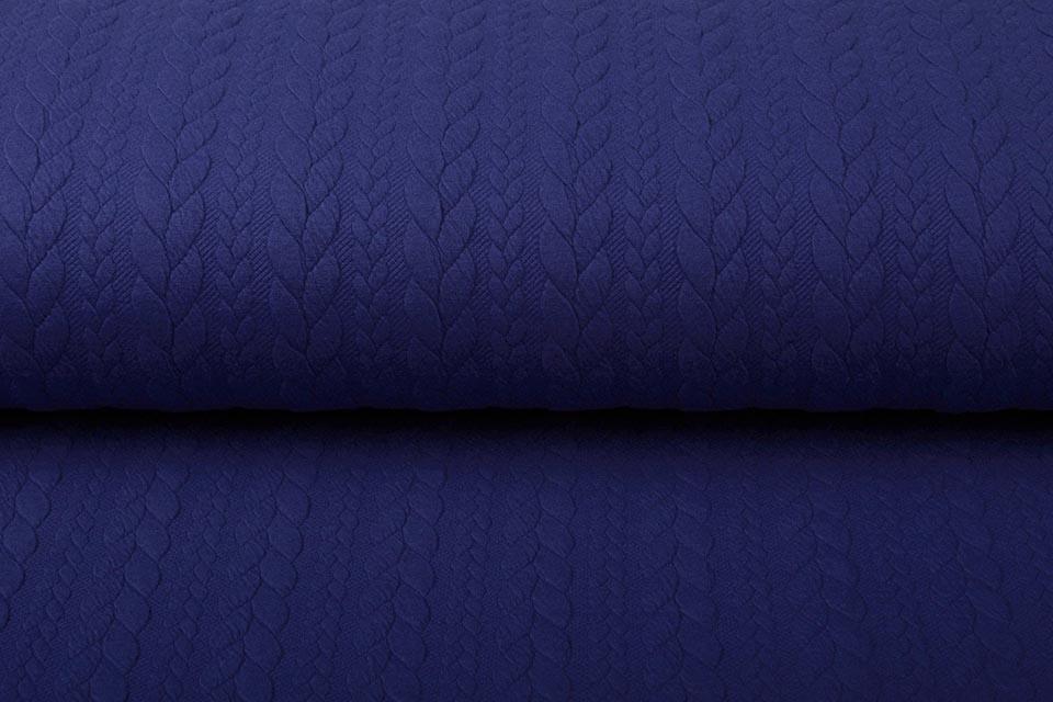 Gestrickte Kabel Stoff Tricot Königs Blau