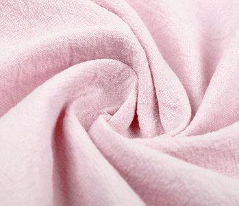 100% Gewaschene Baumwolle Hellrosa
