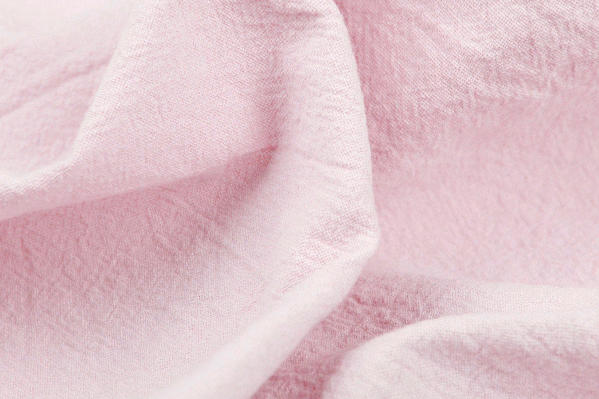100% Gewassen Katoen Licht Roze