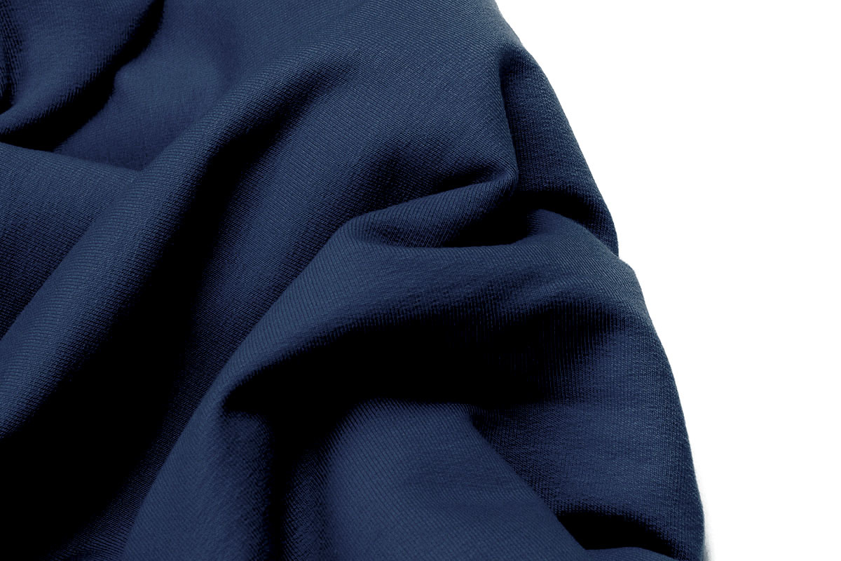 Oeko-Tex®  French Terry Politie Blauw