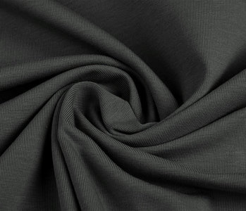 Oeko-Tex®  Jersey Stoff Baumwolle Dunkelgrau