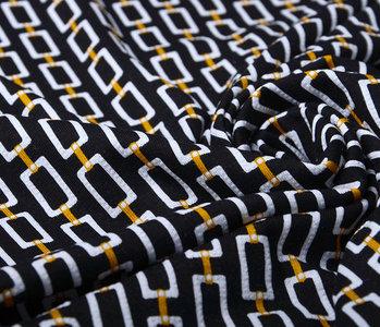 Viscose Lacquar Chains Zwart