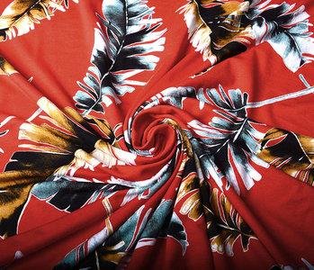 Viscose Lacquar Pluma Red