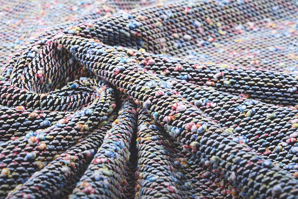 Boucle Gestrickt multi-Farbe