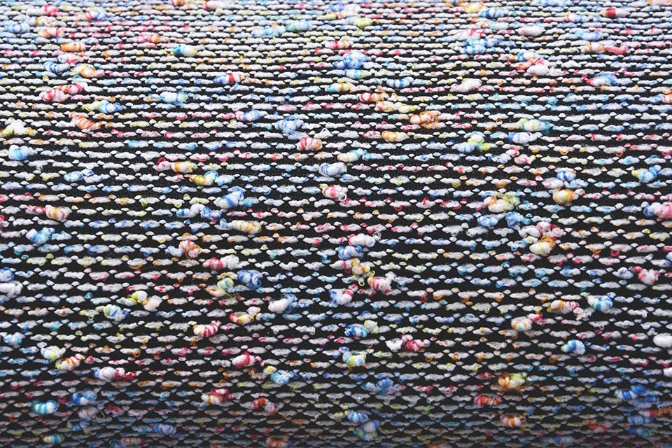Bouclé gebreid multi-color