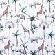 100% Baumwolle Tropische Elefant Giraffe