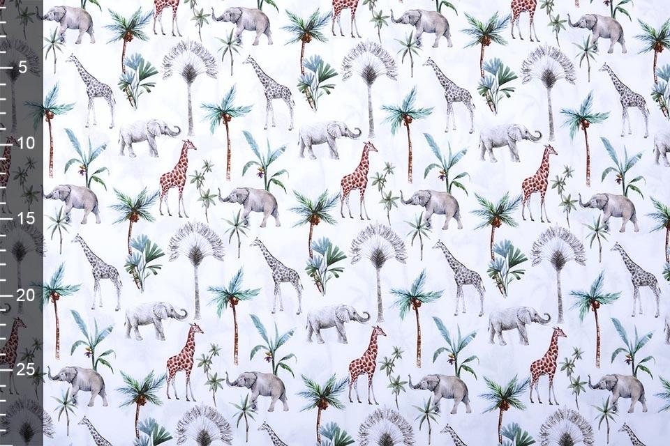 100% Katoen Tropische Olifant Giraffe