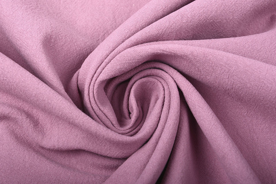 100% Gewaschene Baumwolle Dunkel Altes Rosa