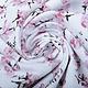 100% Gewassen Katoen Trandafiri Bloemen Oud Roze