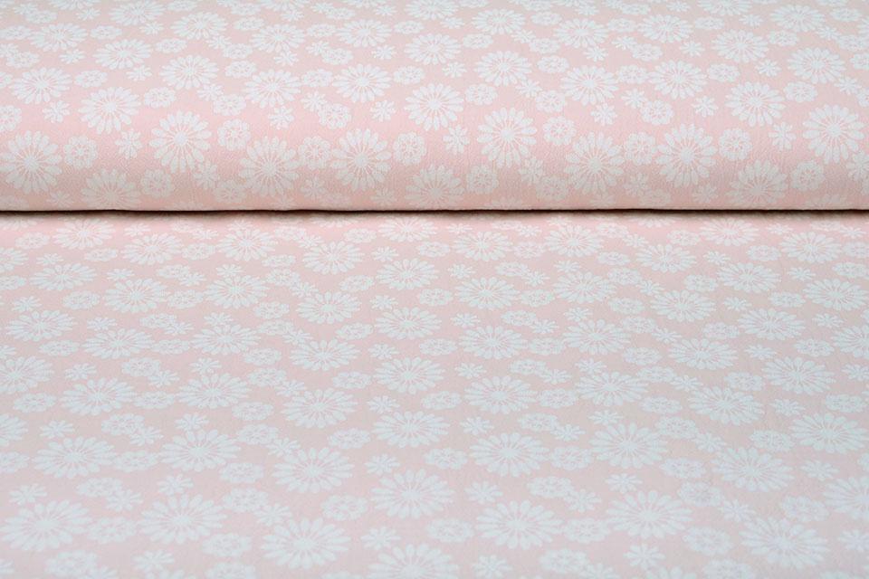 100% Gewassen Katoen Bulatan Mandala Licht Roze