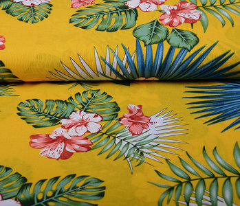100% Viscose Aloha Ocher Yellow