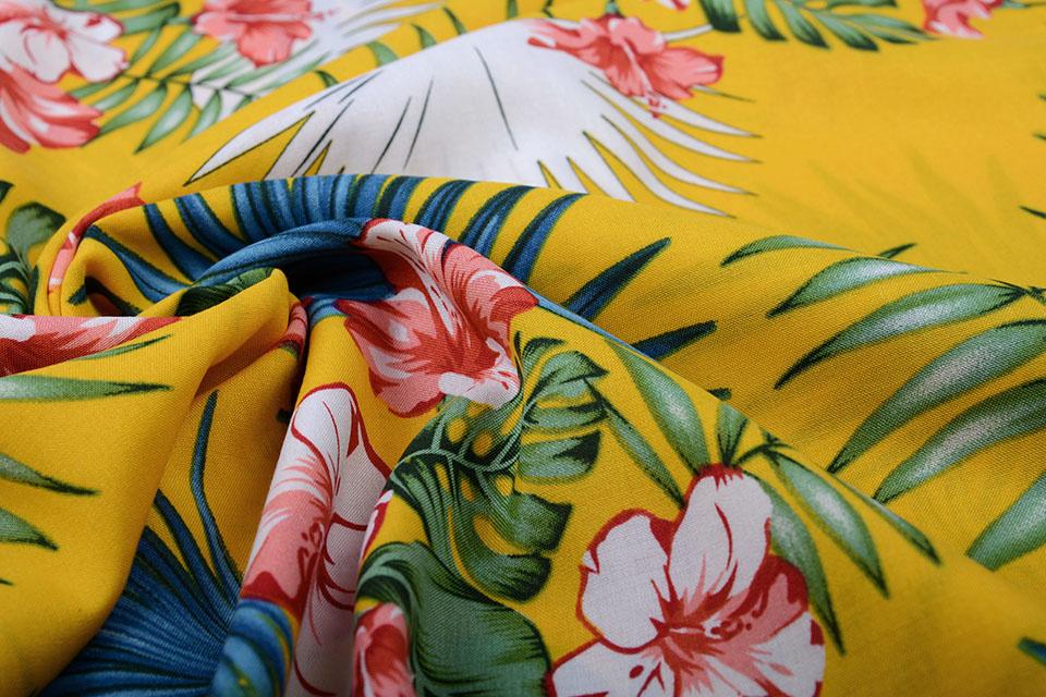 100% Viskose Aloha Ocker Gelb