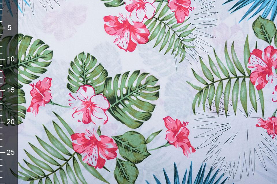 100% Viskose Aloha Weiß